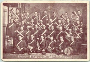 Vintage Sydney, AUSTRALIA Postcard SYDNEY 1 SALVATION ARMY BRASS BAND Unused