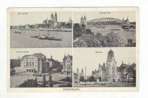 4 Views Of Magdeburg (Saxony-Anhalt), Germany, 1900-1910s
