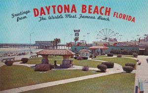 Florida Daytona Beach Ocean Front Park Looking South Towards Recreation Area