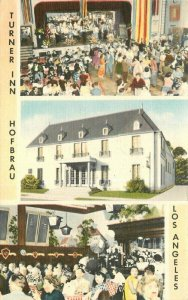 Los Angeles California 1940s Turner Inn Hofbrau Postcard MWM 6949