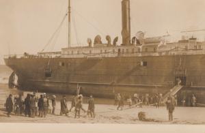 RP: HYANNIS, Massachusetts , 1907 ; Shipwreck of S.S. ONONDAGA #2
