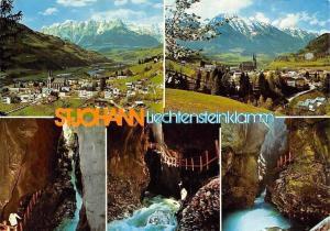 St. Johann Liechtenstienklamm im Pongau Gesamtansicht Kirche Berg Mountain