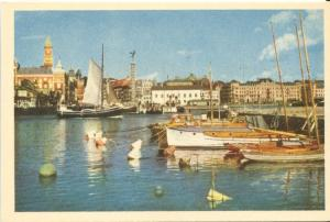 Sweden, HALSINGBORG, Hamnmotiv, 1950s unused Mini Postcard