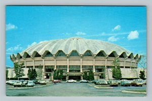 Morgantown, WV University Basketball Dome Coliseum Chrome West Virginia Postcard