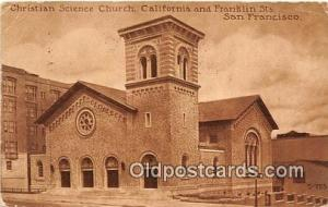 Christian Science Church San Francisco, CA, USA 1914 Missing Stamp a lot of c...