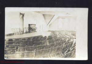 RPPC HARTLEY IOWA HIGH SCHOOL THEATRE AUDITORIUM INTERIOR REAL PHOTO POSTCARD