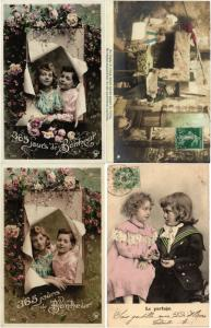 GLAMOUR REAL PHOTO BOYS & GIRLS, CHILDREN FILLES GARCONS ENFANTS 94 CPA pre-1940