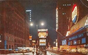 US New York City, Times Square, Night, Astor, Chevrolet, Advertising