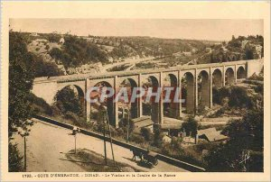 Old Postcard Dinan-Emerald Coast-The Viduc and Coulee Rance