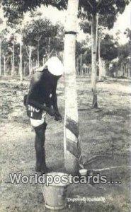Real Photo Tapping Rubber Malaya, Malaysia Unused