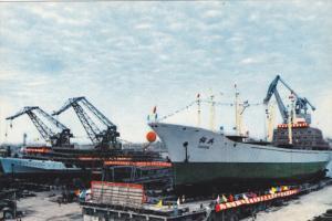 Ocean Liner in Port , Japan , 50-70s
