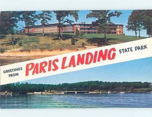 Pre-1980 TWO VIEWS CARD Paris Landing State Park - Buchanan by Paris TN ho7243