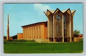 Valparaiso IN, University Memorial Chapel, Chrome Indiana c1962 Postcard