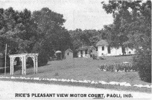 Rice's Pleasant View Motor Court, Paoli, Indiana, 20-40s