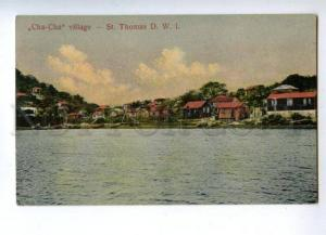 144754 Danish West Indien Virgin Isl St.Thomas Cha-Cha village