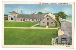 Old Fort Niagara Across the Parade NY Postcard