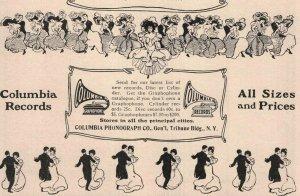 1907 Original Print Ad Columbia Records Phonograph Co. 2P1-6 e et