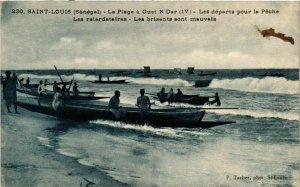 CPA AK SÉNÉGAL-230. Saint Louis-Les départs pour la Péche (331065)
