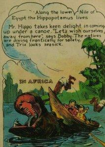 Nile River Hippopotamus Dotty Bob Trix Cards Bread Vintage Victorian Trade Card