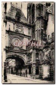 Old Postcard Rouen Cave Clock