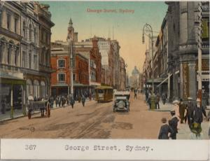 Sidney - EARLY GEORGE STREET view 1920s