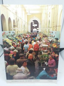 Vintage Postcard The French Halles The Market Guernsey