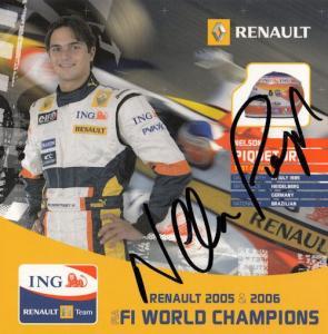 Nelson Piquet Formula 1 Grand Prix Hand Signed Photo