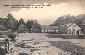 Alton Bay NH~Crowd at Advent Christian Camp Grounds~Mission Cottage~1930s Cars