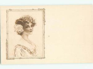 Divided-Back PRETTY WOMAN Risque Interest Postcard AA7960