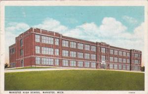 Michigan Manistee High School 1929 Curteich