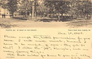 Togus Maine In Front Of Library Antique Postcard K80741