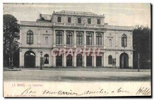 Old Postcard The Theater Le Mans