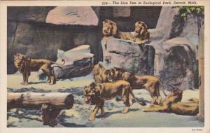 Michigan Detroit The Lion Den In Zoological Park Curteich