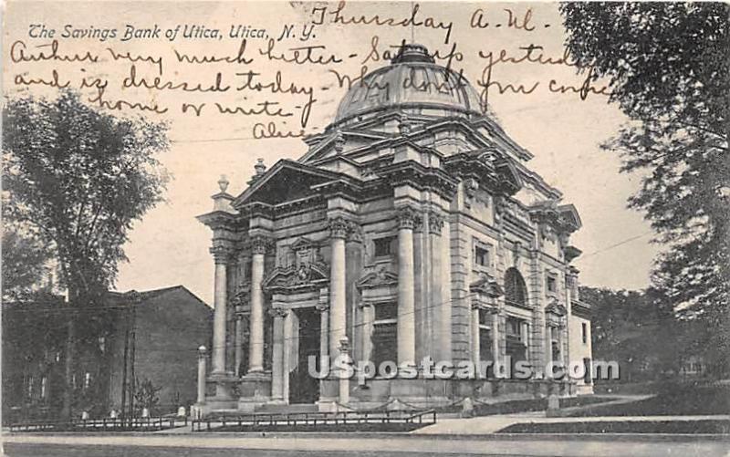 Savings Bank of Utica Utica NY 1906