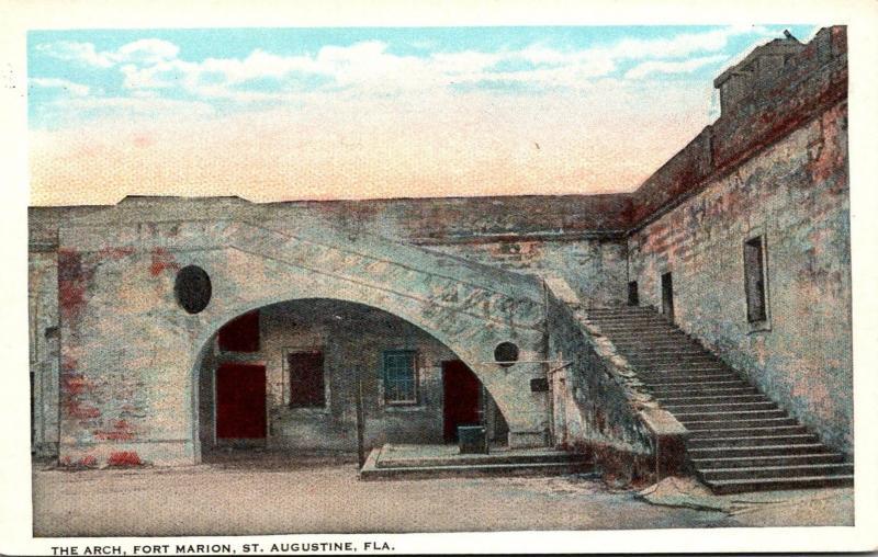 Florida St Augustine Fort Marion The Arch Curteich
