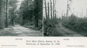NH - Keene. Five Mile Drive Before and After the Hurricane of September 21, 1938