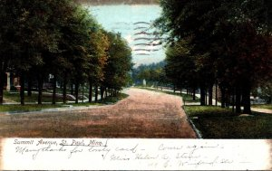 Minnesota St Paul Summit Avenue 1907