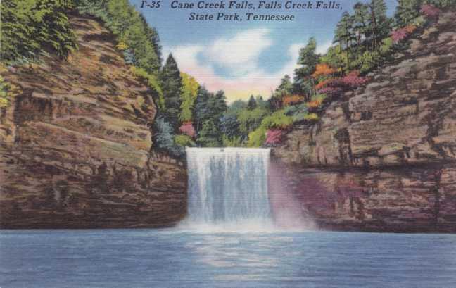 Cane Creek Falls - Fall Creek Falls State Park - Tennessee - Linen