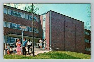 Huntington IN- Indiana, Hardy Hall, Women, Huntington College, Chrome Postcard