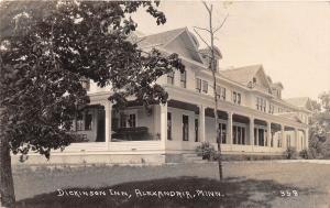 D95/ Alexandria Minnesota Mn Real Photo RPPC Postcard 1922 Dickinson Inn