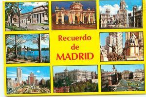 Old Vintage Postcards Madrid Recuerdo Spain # 2267A