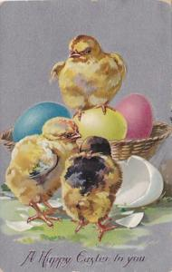 Tucks Happy Easter With Young Chicks 1911