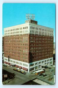 Postcard OK Tulsa Hotel Tulsa Third Street View Airview 1950's Old Cars R72