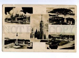 155842 HUNGARY Budapest Vintage collage photo RPPC