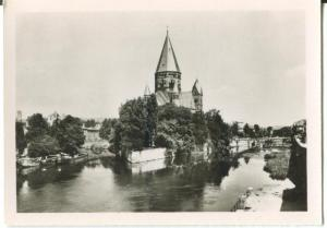 France, METZ, View on the Love Garden and the Protestant Temple Mini Photo