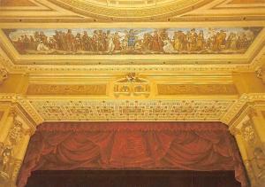 Semperoper Dresden, Zuschauerraum Buehnenportal mit Proszeniumsbild