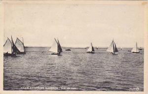 Sailing , Sailboats, Charlottetown Harbour , P.E.I. , Canada , PU-1930