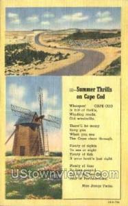 Cape Cod, Mass Post Card     ;     Cape Cod, Massachusetts Cape Cod MA Unused