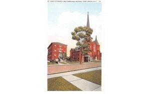 St Mary's Church & Parochial School in Port Jervis, New York