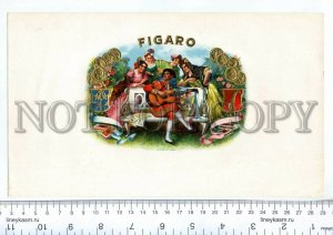 500095 FIGARO Vintage embossed cigar box large label